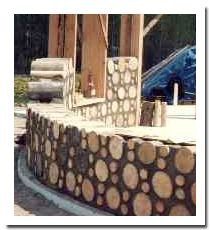 More cordwood construction.  Beautiful.