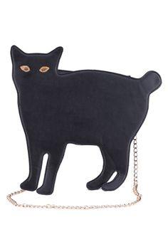 Cat-shaped Black Single Shoulder Bag #romwe