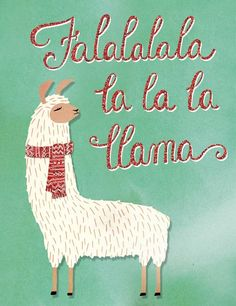 Molly and Rex Fa La La Llama Holiday Greeting Cards