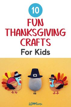 A fun way to get the kids in holidays is to do themed crafts with them! Your little ones will love these 10 fun Thanksgiving crafts. | #thanksgiving #lifeasmama #kids #crafts #kidscrafts #holiday #seasonal