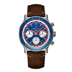 Worldwide Watches Magazine Breitling Navitimer, Breitling Watches, Gentleman Watch, Mesh Bracelet, Stainless Steel Mesh, Chronograph, Color Azul, Vintage Inspired, Mens Fashion