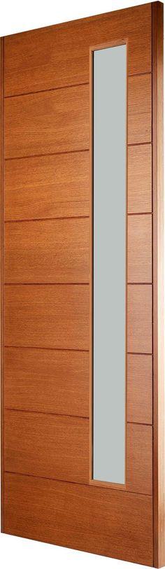 STUTTGART Oak Front Door, Timber Door, British Standards, External Doors, Left Handed, Solid Oak, Home Remodeling, Contemporary Design, Door Ideas