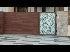 While designing a house or a building, boundary wall and main holds a prime importance. Main Gate has to be safe, strong and aesthetically good. Here's a com. Compound Wall Gate Design, Gate Wall Design, Grill Gate Design, Front Wall Design, Ramp Design, Steel Gate Design, Modern Main Gate Designs, Iron Main Gate Design, House Main Gates Design