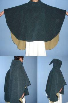 Lange gefütterte Cappa Larp, Headgear, Mardi Gras, Medieval, Dress Up, Ballet Skirt, Costumes, Halloween, Craft
