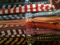 Great colors and fabrics in these new scarves!