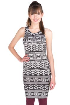 Sleeveless Aztec Hacci Dress