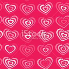 white striped heart on pink background Valentine's day, wedding pattern. Royalty Free Stock Vector Art Illustration