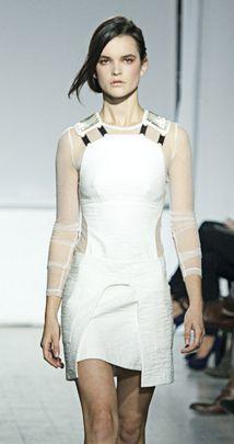 sheer white- Jeremy Laing Spring 2013
