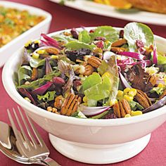 "Pilgrim Salad Recipe | [site:name] | MyRecipes.com. Not a quick ""go-to"" salad, but maybe worth the trouble for a special occasion...."