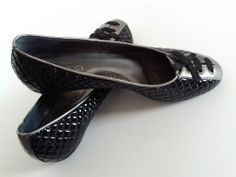 Women's SESTO MEUCCI Ballet Flats Black Patent Leather Quilted Shoes 9 ITALY NEW #SestoMeucci #BalletFlats