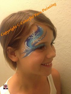 Frozen face painting swirls