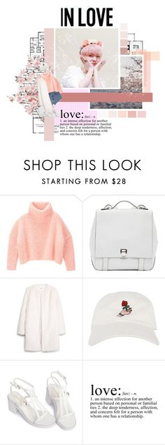 """✨ ~ White Love // MONSTA X ~✨"" by xxjay-gxx ❤ liked on Polyvore featuring Paul Frank, Proenza Schouler, MANGO, WALL, kihyun and monsta_x"