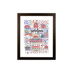 Boston Map Print by Evelyn Henson