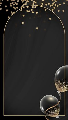 Phone Wallpaper Design, Phone Wallpaper Images, Wallpaper Backgrounds, Graduation Wallpaper, Birthday Wallpaper, Black Background Wallpaper, Framed Wallpaper, Cadre Design, Balloon Frame