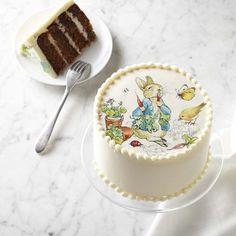 the sweetest little cake . Peter Rabbit Cake #williamssonoma