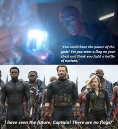 Interesting foreshadowing by Red Skull...