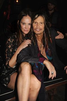 Steven with Ines Rivero Ines Rivero, Miroslava Duma, Elevator Music, Steven Tyler Aerosmith, Joe Perry, Liv Tyler, Victoria Secret Angels, My Boyfriend, Cool Pictures