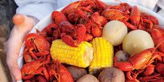 From New Orleans to Acadiana, February through June marks the season of deep-rooted Louisiana tradition—the crawfish boil. Southern Dishes, Southern Recipes, Southern Food, Cajun Recipes, Seafood Recipes, Fish Recipes, Fresco, Banana Snacks, Snack Hacks