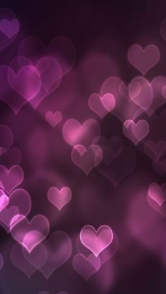 Hearts in Purple