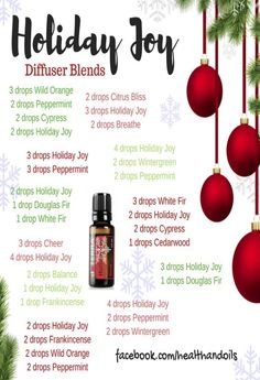 Holiday Joy Diffuser Blends