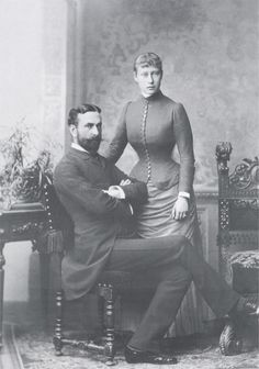 Their Serene Highnesses Prince and Princess Louis of Battenberg. Married: April 30, 1884
