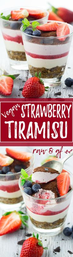 You won't believe this vegan strawberry tiramisu is totally sugar-free, made with healthy ingredients, and packed with nutrients. Plus it's completely raw, gluten-free, and insanely delicious and creamy. SO GOOD! | veganheaven.org