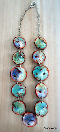 Polymer clay necklace by AnarinaAnar on Etsy, €54.00