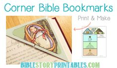 Christmas Bible Crafts.  Children can create bookmarks for their favorite Bible verses. #Biblecrafts