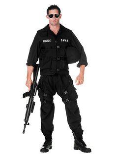 SWAT Officer Kostüm von maskworld.com #karnval #fasching #polizei