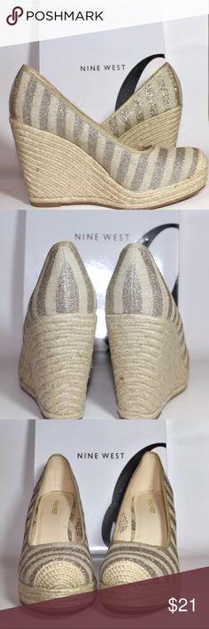 Nine West wedges Classy Nine West Wedges silver  size 8 1/2 Nine West Shoes Wedges
