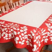 Tablecloths & Napkins   Fair Trade Kitchenware Tablecloth - Red Leaf $54.95  To place an order for this beautiful kitchen item, click on the link below www.oxfamshop.org.au #oxfam #oxfamshop #fairtrade #shopping #kitchen #kitchenware