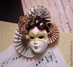 """Магниты ручной работы. Ярмарка Мастеров - ручная работа Маска """"Музыкальная"""" - магнитик. Handmade."""