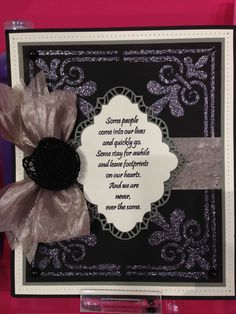 Stunning card made by Julia Watts using stencil paste and a mask from Creative Expressions