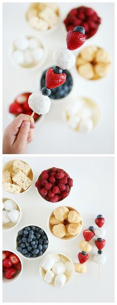 4th of July Dessert Kabobs   4th of July Treat Ideas