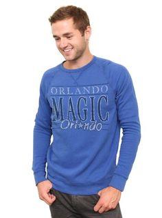 NBA Orlando Magic Mens Vintage Solid Long Sleeve Fleece Shirt Liberty  Medium     Check out the image by visiting the link. 69dcd5c82