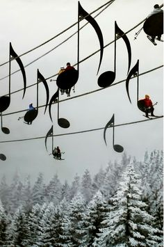 Musical chair lift in France