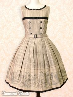 Innocent World / Jumper Skirt / Antique Book JSK
