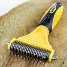 BarkOutfitters Dematting Tool for Dogs - Our Professional Grade Brush Safely and Easily Removes Matted Tangles -- Unbelievable dog item right here! : Dog Grooming