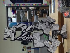 My student's art 1 assignment. They decided to install the work themselves. Lol