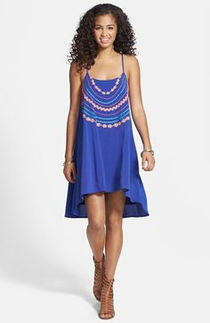 Wyldehart Beaded Cage Strap Swing Dress (Juniors) available at #Nordstrom