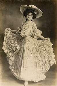 Edwardian actress and singer Gertrude 'Gertie' Miller.