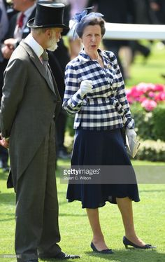 Prince Michael of Kent and Princess Anne, the Princess Royal attend Royal Ascot 2017 at Ascot Racecourse on June 21, 2017 in Ascot, England.