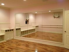 dance studio Ideas For An At-Home Dance Space - Your Daily Dance Home Ballet Studio, Home Dance Studio, Dance Studio Design, Studio Room, Studio Living, Living Room, Tanzstudio Design, Home Gym Design, Dance Bedroom