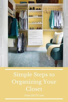 Get our expert tips and product picks for organizing your closet without hassle. Household Organization, Closet Organization, Organizing Tips, Organization Ideas, Storage Ideas, How To Organize Your Closet, Home Decor Shelves, Walk In Wardrobe, Diy Network