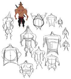 by Maru Arteaga Perez.  A geometria é a base de construção do cartoon mais caricato. A anatomia geométrica de um personagem pode falar muito sobre sua personalidade e contrastá-la com seus movimentos. www.darlion.com.br