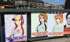 The Love Party vil have mere kærlighed og medmenneskelighed i politik. Det fiktive parti har nu ophængt valgplakater over det meste af København.