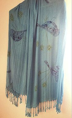 Silk Scarf by Laladiva.Hand painted.2013. http://complementoslaladiva.com/