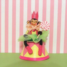 Little Monkey Queen Cake Topper Table by marileejanedesigns.etsy.com