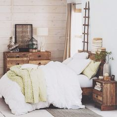 love the rustic look but I think a darker shinier wood to look a little bit neater