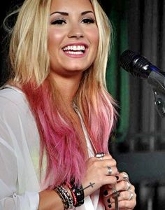 I love her hair, though I would have the pink start a little lower.